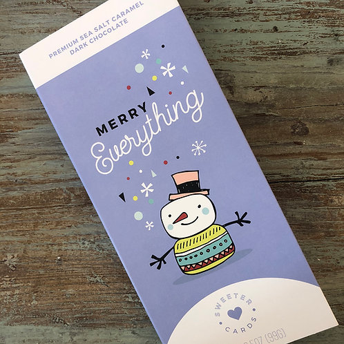 Merry Everything Holiday Card & Chocolate Bar