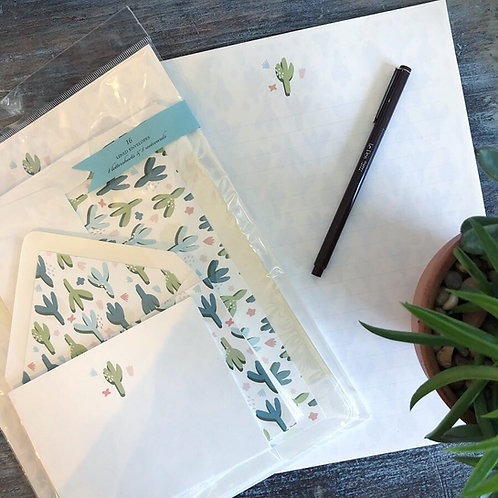 Cactus Floral Stationery Kit