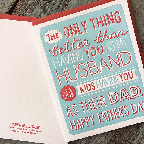 Husband Only Thing Better Card