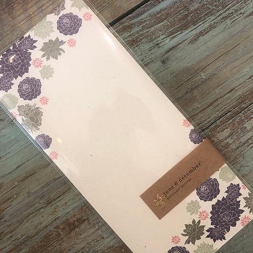 Succulent Notepad
