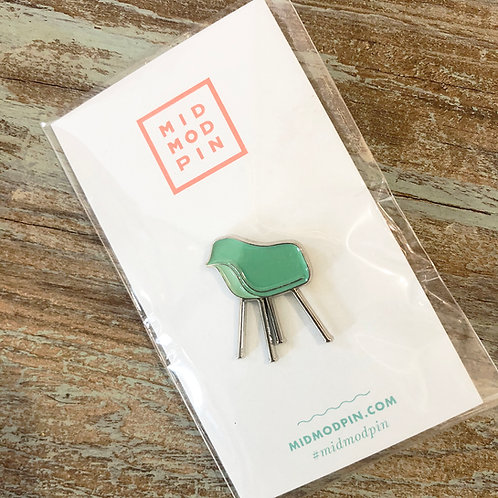 Mint Shell Chair Enamel Pin