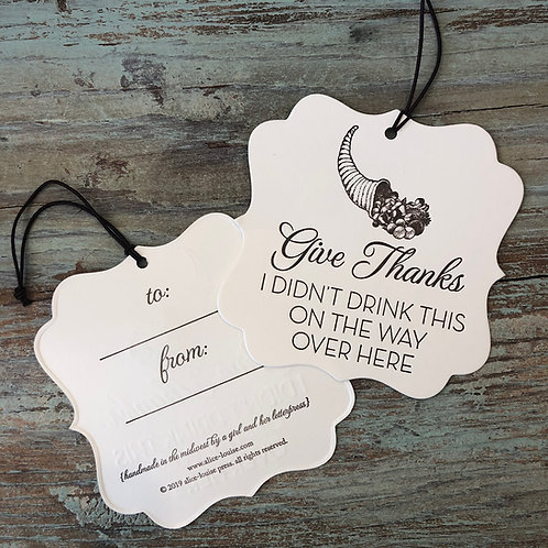 Give Thanks Wine Tags