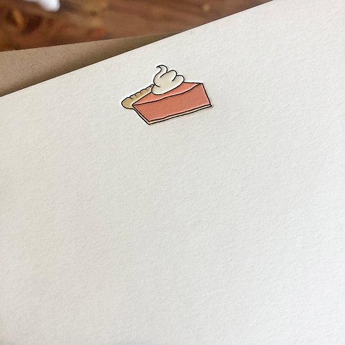Pumpkin Pie Notecard