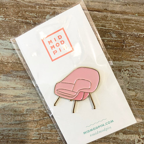 Pink Womb Chair Enamel Pin