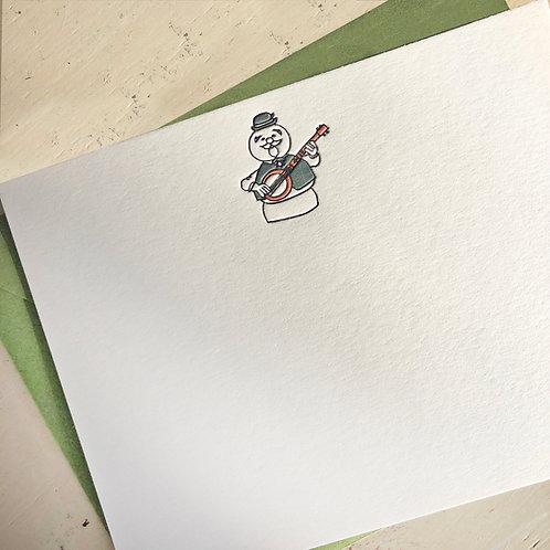 Sam the Snowman Notecard