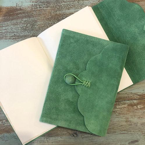 Jade Fold Over Button Journal