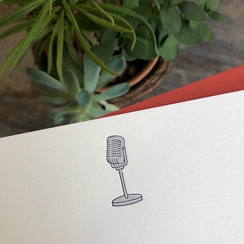 Microphone Notecard