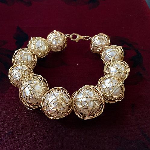 Wire Wrapped Beads Bracelet