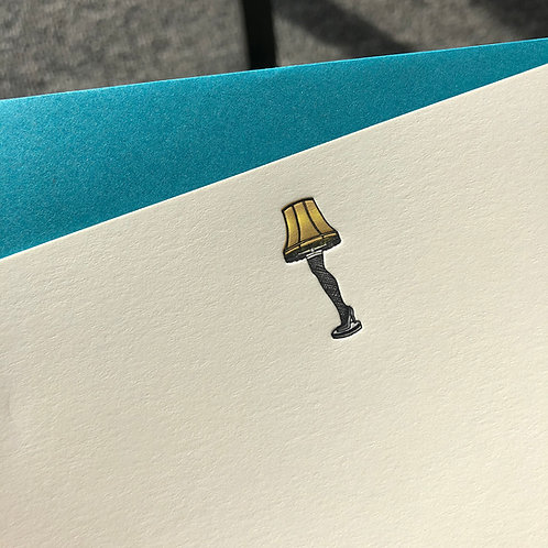 Leg Lamp Notecard
