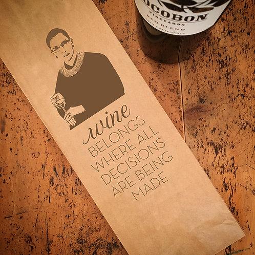 RBG, Wine Bag