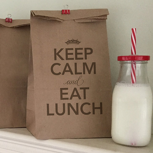 Keep Calm Lunch Bags