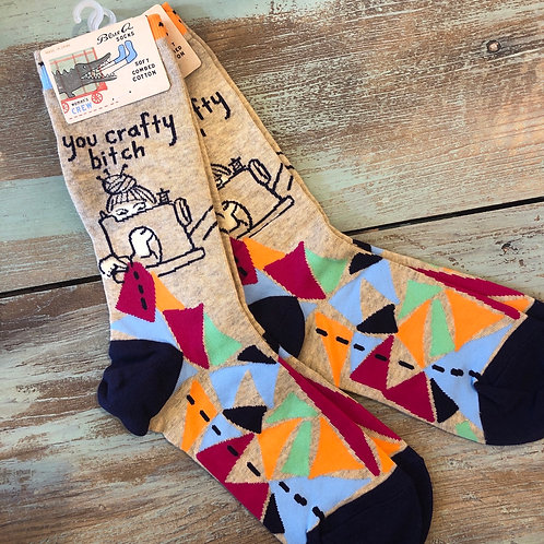 You Crafty Bitch Women's Crew Socks