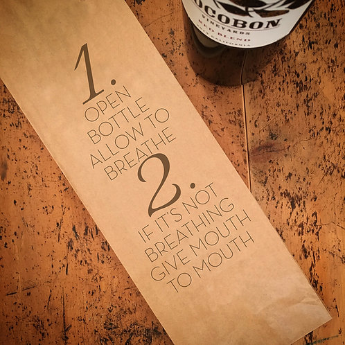Mouth to Mouth, Wine Bag