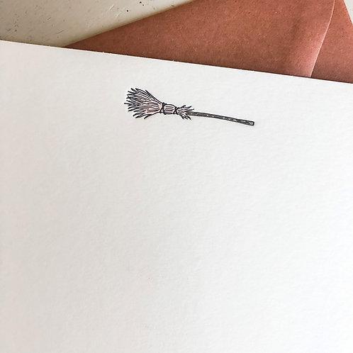 Broom Notecard