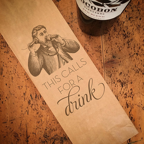 Calls for a Drink Wine Bag