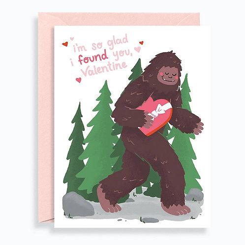 Bigfoot Valentine Card