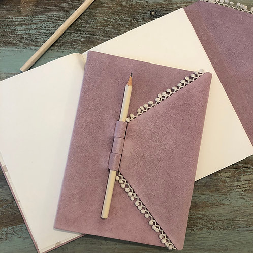 Blush Fold Over Journal & Pencil