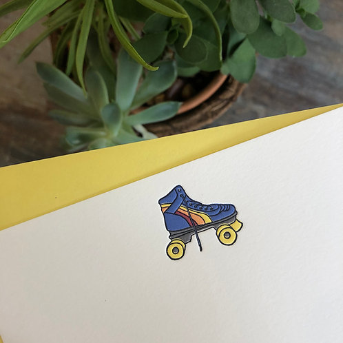 Rollerskate Notecard
