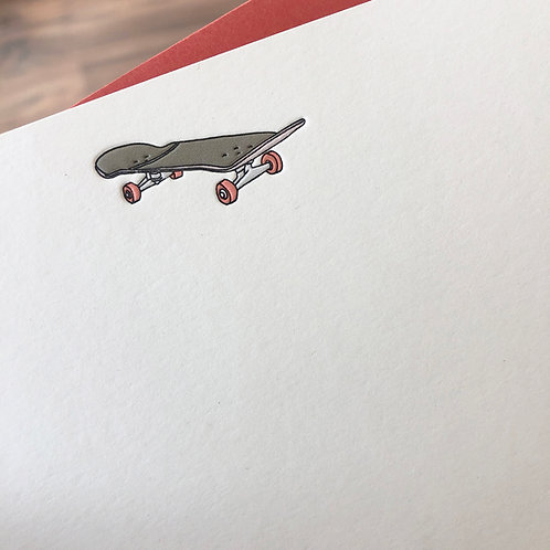 Skateboard Notecard