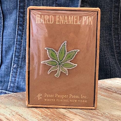Weed Enamel Pin