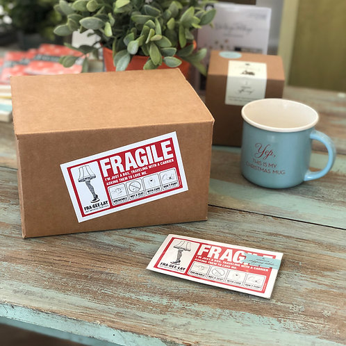 Fragile (Fra•gee•lay) Shipping Label Small
