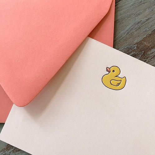 Rubber Ducky Notecard