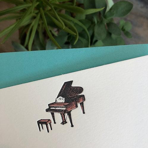 Piano Notecard