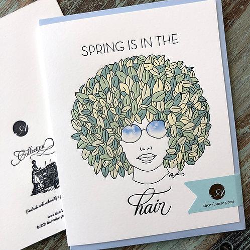 Spring Hair Card