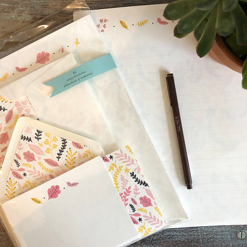 Autumn Flowers Stationery Kit