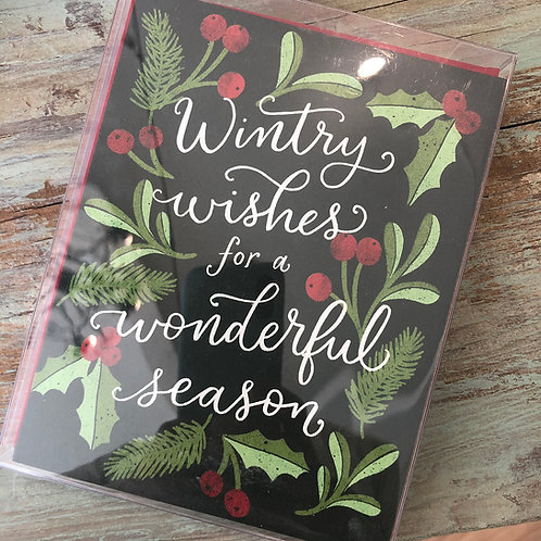 Wintry Wishes Sprigs Boxed Cards