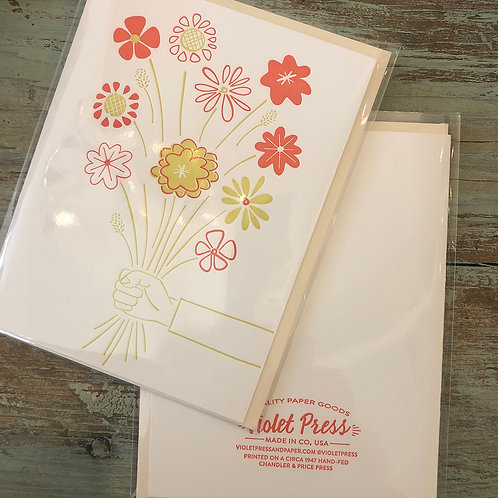 Flower Bouquet Card