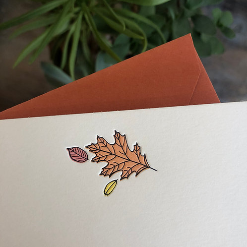 Leaves Notecard