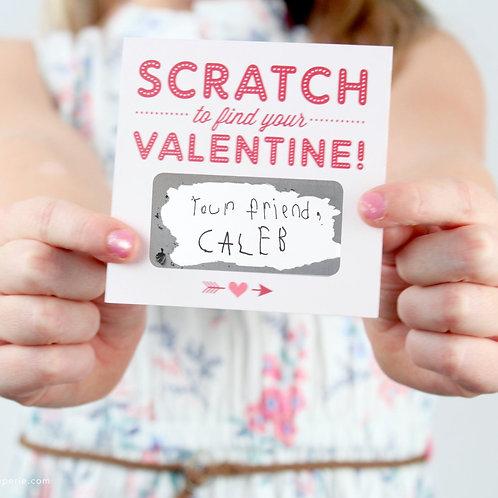 Scratch-off Valentines - Pink