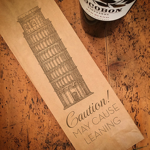 Leaning, Wine Bag