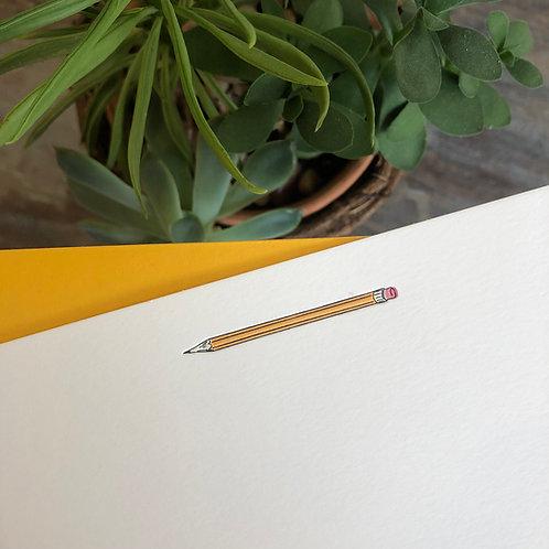Pencil Notecard