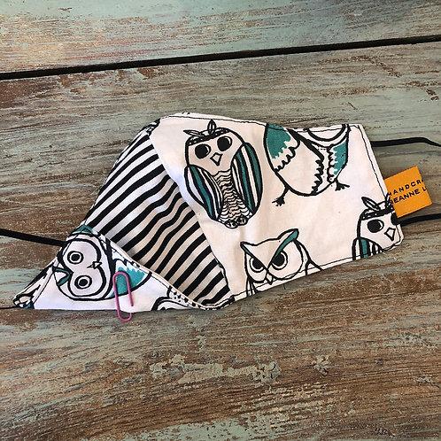 Children's Mask Owls/BW Stripes