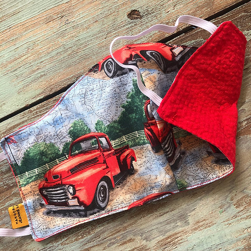 Men's Mask Truck/Red