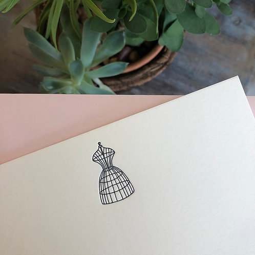 Dress Frame Notecard