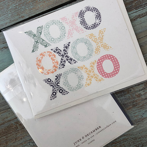 Woodblock XO Card