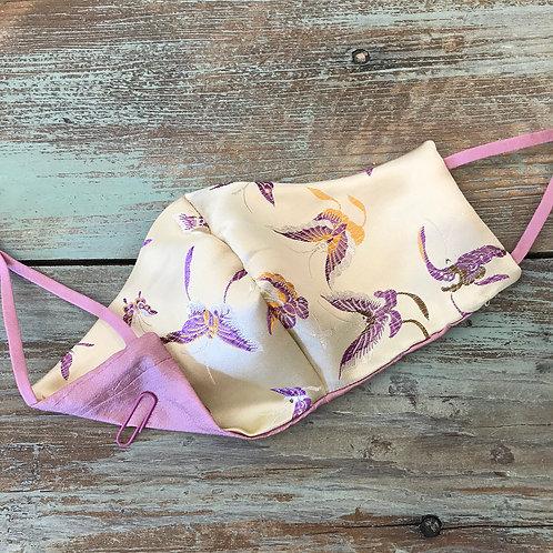 Women's Bridal Mask Silk Butterflies/Pink Silk