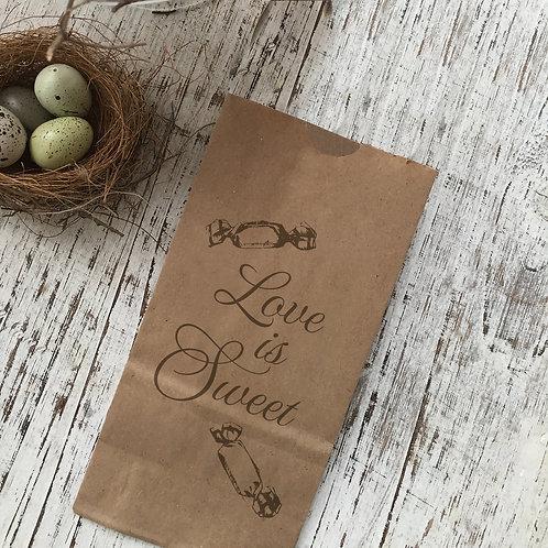 Love Is Sweet Snack Bag