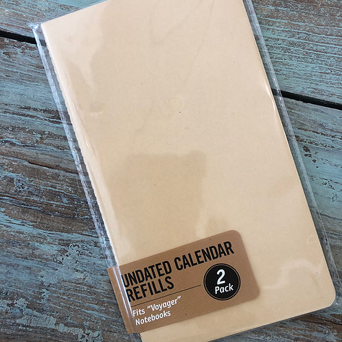 Voyager Undated Calendar Paper Refills