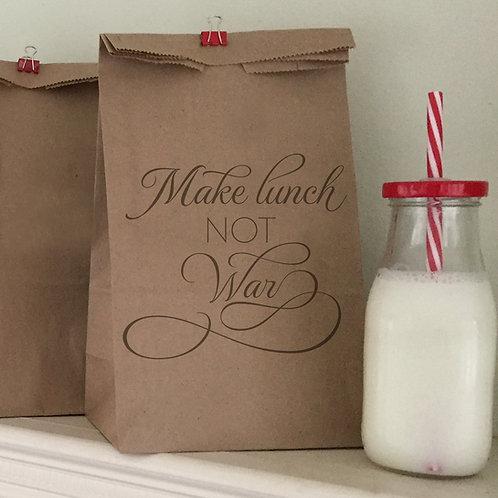 Make Lunch Not War Lunch Bags
