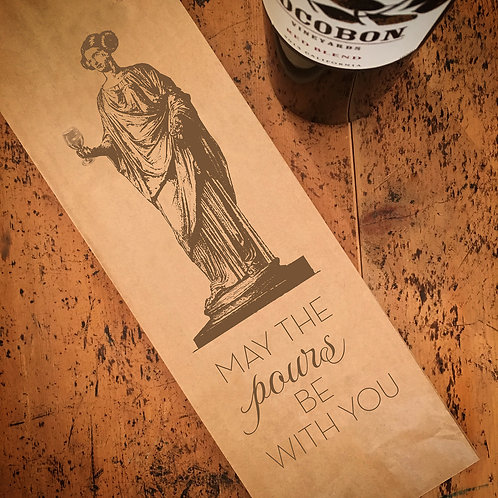 Pours Be With You Wine Bag