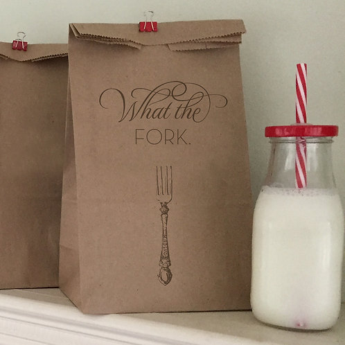 What The Fork Lunch Bags