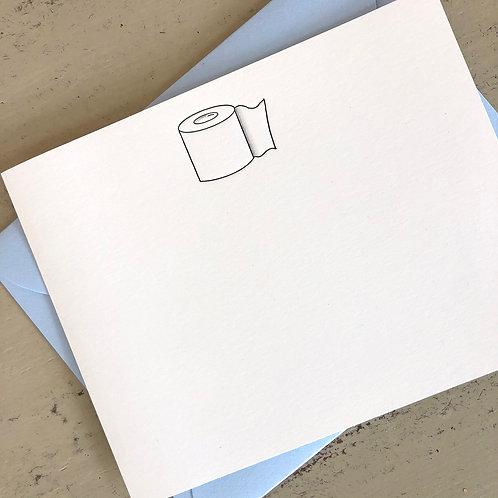 Toilet Paper Notecard