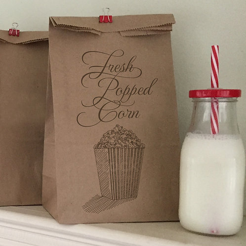 Popcorn Lunch Bags