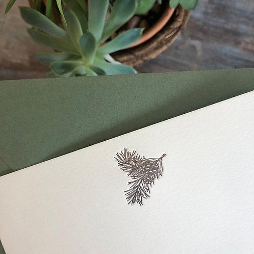 Pine Sprig Notecard
