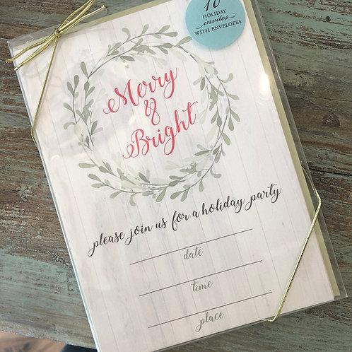 Merry & Bright Fill-In Invite