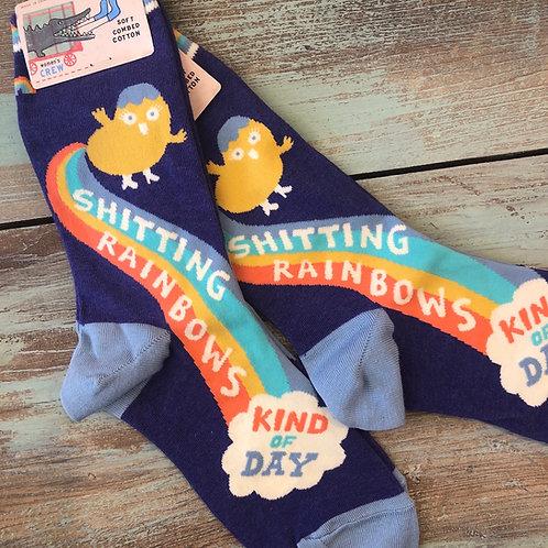 Shitting Rainbows Women's Crew Socks